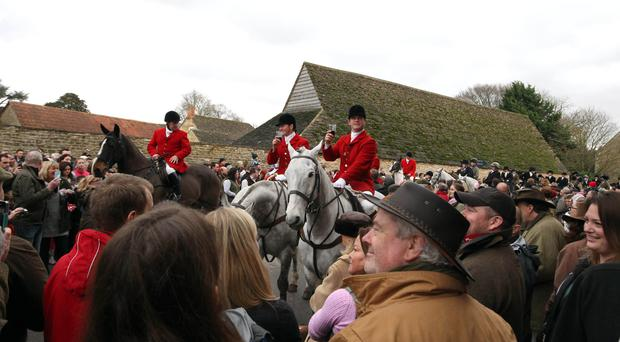 Fox hunting supporters said more than 250,000 people were expected to turn out to support Boxing Day hunts