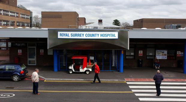 The Royal Surrey County Hospital in Guildford is the most expensive trust in the country for a one-hour stay, figures show