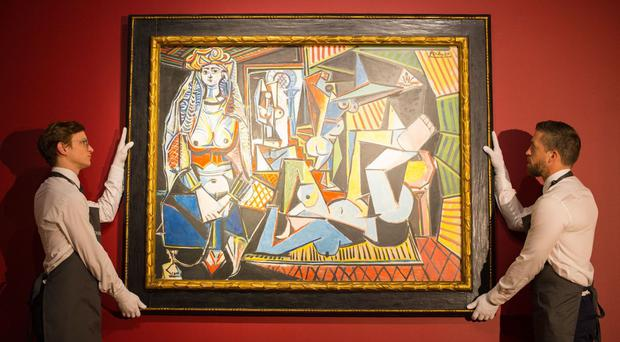 Experts will study work by famous artists such as Pablo Picasso, whose Les Femmes D'Alger was photographed at Christie's London showroom