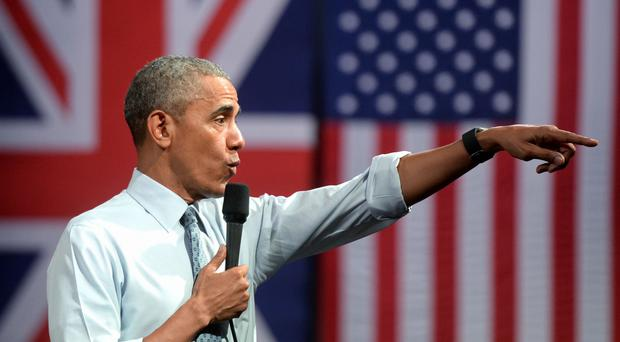 US President Barack Obama has been portrayed as a lame duck by the Russian embassy in London