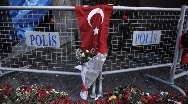 Tributes to the victims of the Turkey nightclub terrorist attack in Istanbul, as people are urged to learn first aid skills in case of such incidents (AP/Halit Onur Sandal)