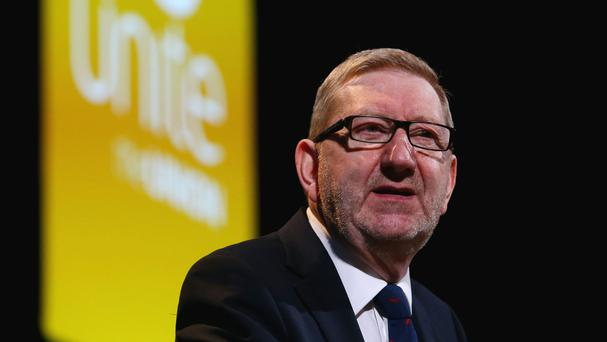 Len McCluskey will tell a rally in Glasgow a 'shot-in-the-arm' is needed to protect workers' rights