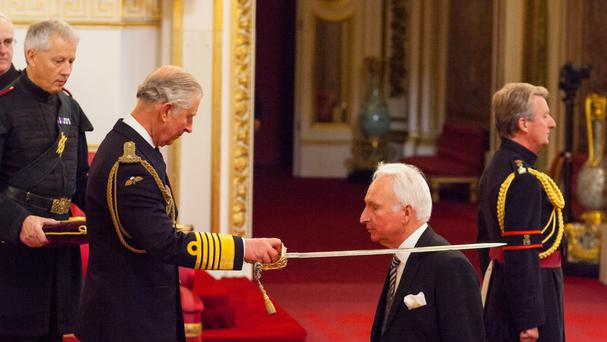 Sir Andrew Cook was made a Knight Bachelor of the British Empire by the Prince of Wales at Buckingham Palace in November