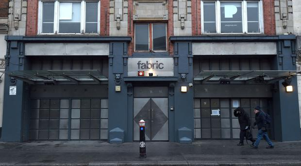 A general view of Fabric nightclub in Farringdon, London, as Bouncers will be backed up by police as the club re-opens tonight following its closure for drugs on the premises.