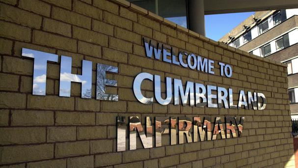 Security measures have been increased at Cumberland Infirmary