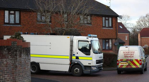 Residents were evacuated after a suspect device was discovered at a block of flats in West Sussex