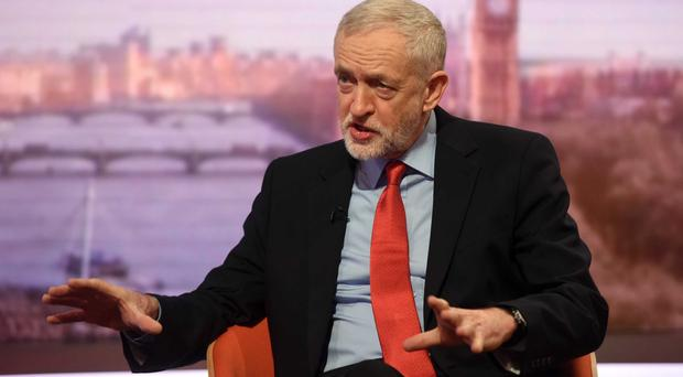 Jeremy Corbyn appearing on The Andrew Marr Show (BBC/PA)