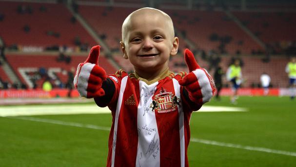 Terminally ill football mascot Bradley Lowery has moved people around the world