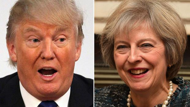 Donald Trump boosted Brexit supporters' hopes of a quick US-UK trade deal, soon after 2019