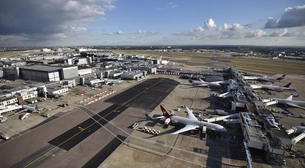 Heathrow Airport, as campaigners bring a judicial review at London's High Court