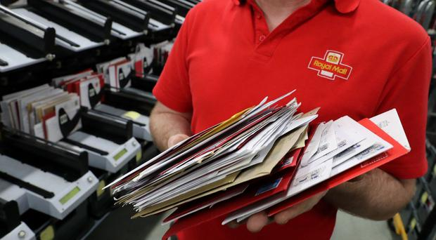 Royal Mail said the number of addressed letters tumbled 6% in in the nine months to December 25