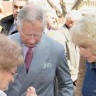 Charles and Camilla during their tour of the Balkans, where they were gifted some creature comforts by Crown Prince Alexander