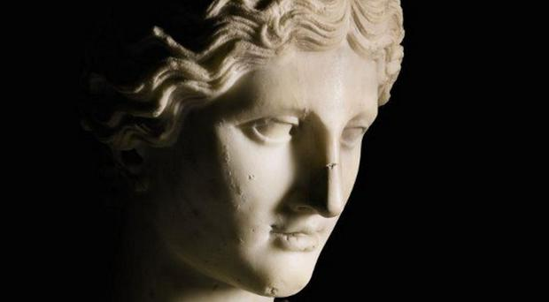 The marble statue of Aphrodite