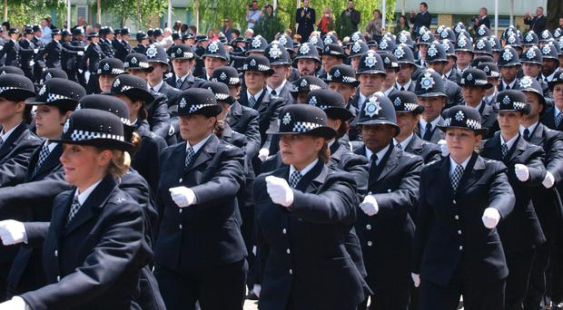 The size of the total police workforce in England and Wales has fallen below 200,000 for the first time in more than a decade