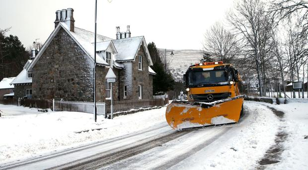 Snow in Braemar in mid-January as the Aberdeenshire town saw the coldest night of the year so far on January 29/30 with the temperature down to minus 10.1C (13.8F)