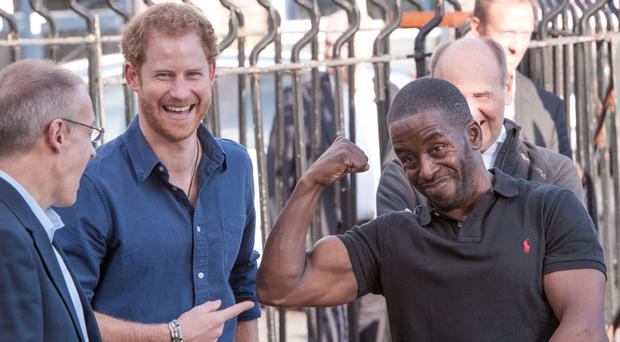 Prince Harry at the Russell Youth Club in the St Ann's area of Nottingham in October