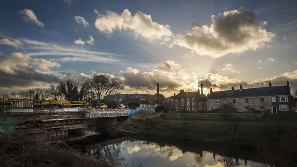 The historic bridge in Tadcaster crumbled into the River Wharfe during floods at Christmas 2015