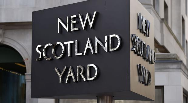 Scotland Yard said detectives were investigating a series of offences involving the monitoring of offenders
