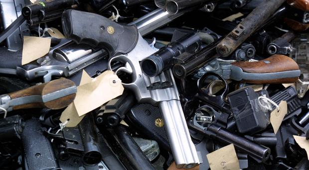 Anti-terrorist police seized hundreds of firearms