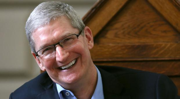 Tim Cook is being awarded a doctorate of science in a ceremony at the University of Glasgow