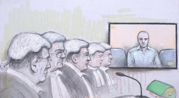 Alexander Blackman listened by video link
