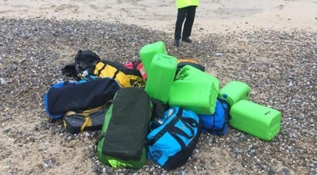 National Crime Agency officers are investigating the discovery of around 360 kilos of cocaine that has washed up on two Norfolk beaches