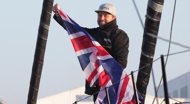 Alex Thomson finished second in the Vendee Globe race
