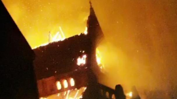 The church was engulfed by flames (Liam Cole/PA)