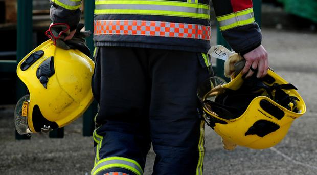 Around 40 firefighters took part in the rescue operation