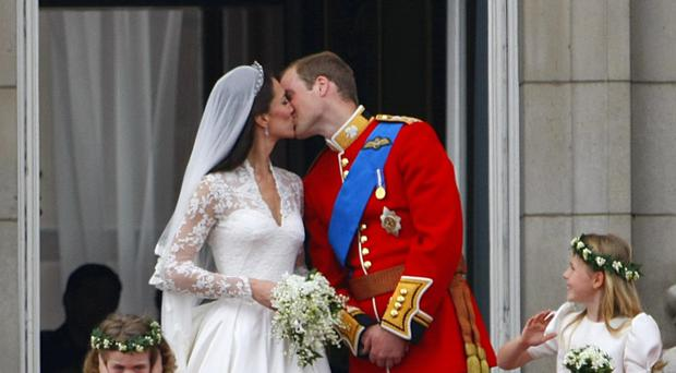 The protest took place when Prince William married Kate Middleton.