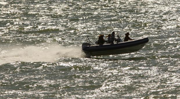 The Britons were on a rigid inflatable boat