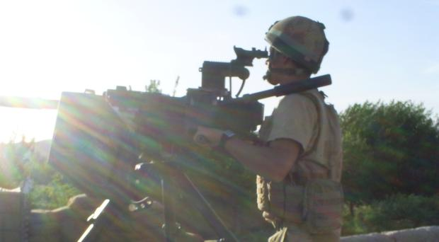 Lee Bagley on tour in Sangin, Helmand province, Afghanistan