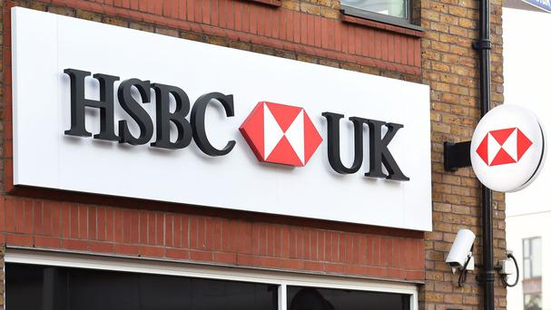 HSBC shares on the slide after 62% profit drop