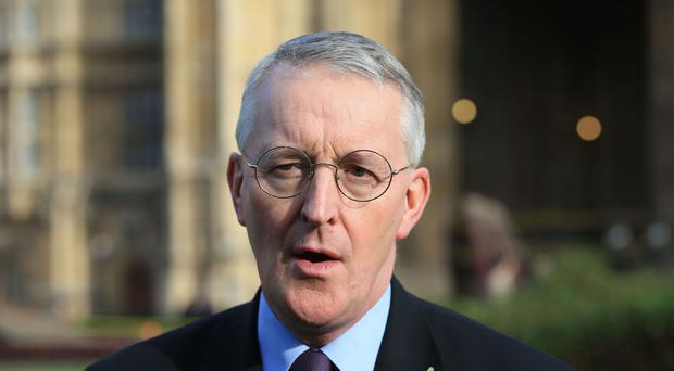 Labour MP Hilary Benn on College Green, London.