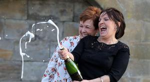 Paula Barraclough and Lorraine Smith won £7.6 million each in Saturday's Lotto draw.