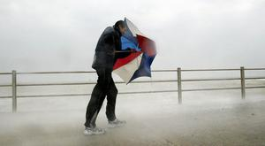 Gales are expected to reach 80mph when Storm Doris arrives