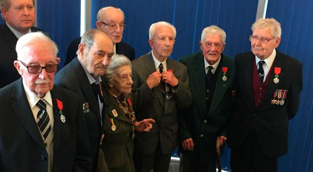 Two of the Normandy veterans honoured