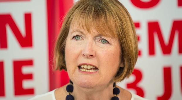 Harriet Harman said her parents told her pretty girls would