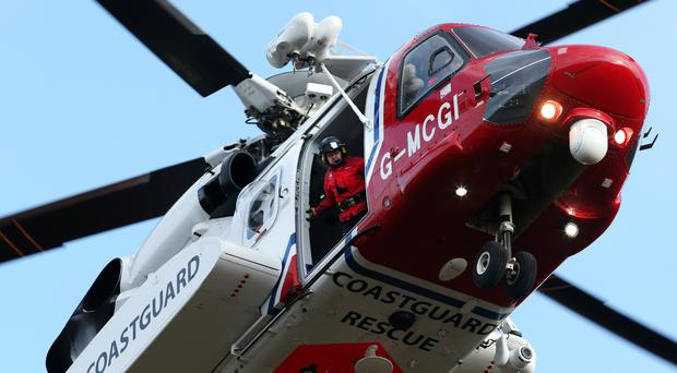 The coastguard helicopter has joined the search off Arbroath, Angus