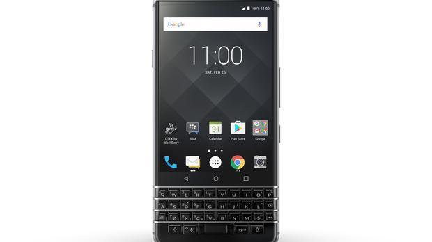 The new smartphone features a physical keyboard (BlackBerry/TCL Communication/PA)