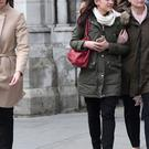 Christine Cullen (right) the widow of Stuart Cullen, outside the Royal Courts of Justice in London, after she gave evidence to inquests into the deaths of 30 Britons in the Tunisia beach terror attack.
