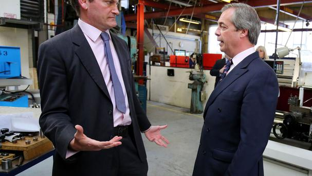 Nigel Farage (right) with Douglas Carswell MP in 2015
