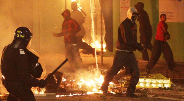 Riot police were on the streets in Tottenham as trouble flared after Mark Duggan was shot dead by police
