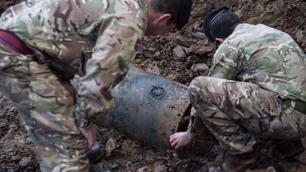A Second World War bomb was discovered on a building site in Brent, north-west London.