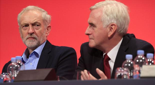 John McDonnell, right, recently warned a