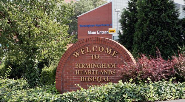 A boy aged nine who collapsed at school was taken to Heartlands Hospital, Birmingham, where he later died