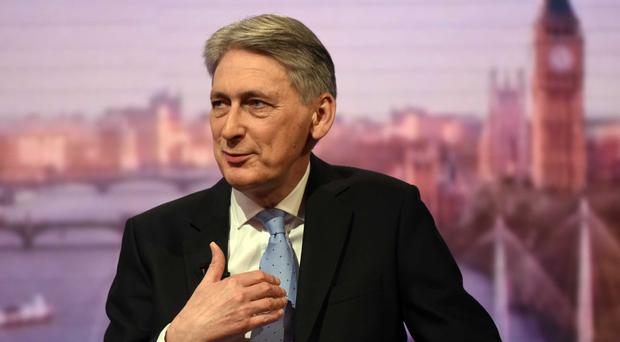 Chancellor Philip Hammond on The Andrew Marr Show (BBC/PA)