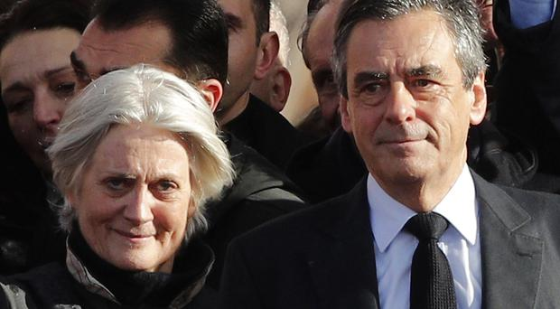 Francois Fillon and his wife Penelope. (AP)