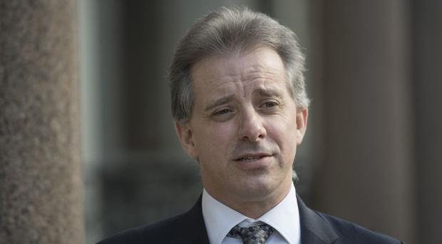 Christopher Steele, the former MI6 agent who set up Orbis Business Intelligence and compiled a dossier on Donald Trump, in London