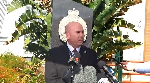 Detective Inspector Paul Hart speaks to the media after a British backpacker was allegedly held captive in Australia (Queensland Police Service)